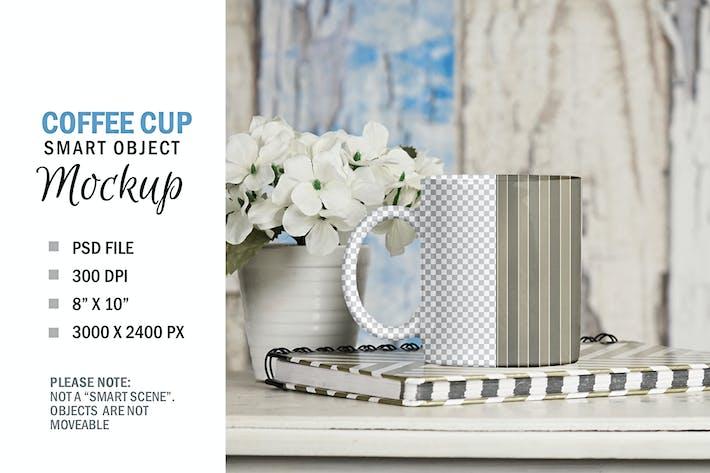 Thumbnail for Coffee Cup Mug Smart Object Mockup on Table Top