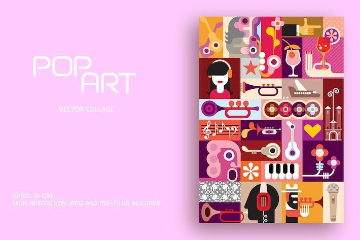 Thumbnail for Pop Art Stil musikalische Thema Vektor Illustration