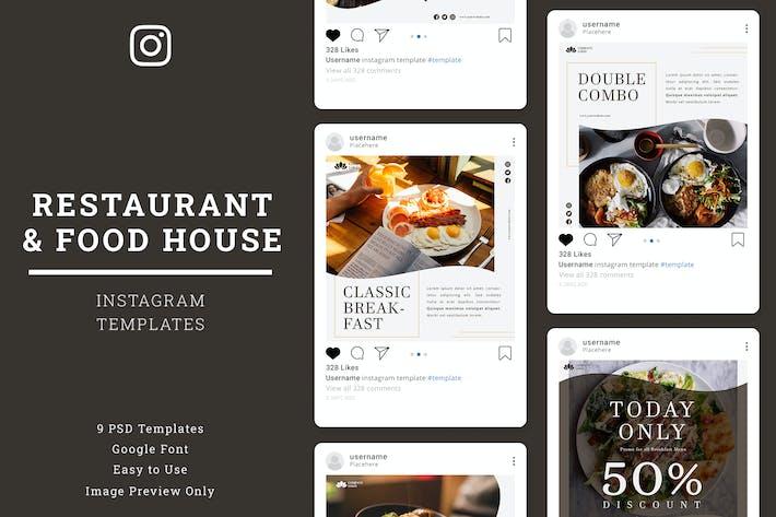 Thumbnail for Restaurant Instagram Post Template