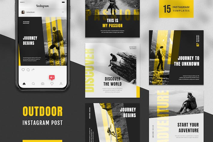 Thumbnail for Outdoor Adventure Instagram Post Template