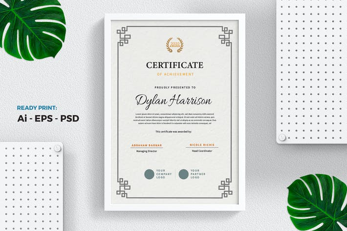 Thumbnail for Classic Vintage Certificate / Diploma Template