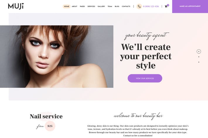 Thumbnail for Muji | Beauty Shop & Spa Salon WordPress Theme