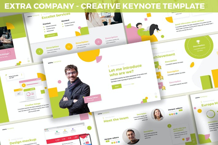 Thumbnail for Extra Company - Creative Keynote Template