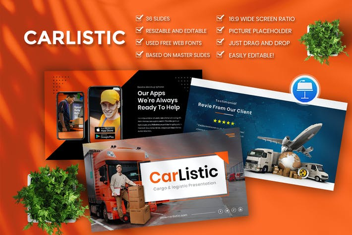 Carlistic – cargo and logistic Business Keynote
