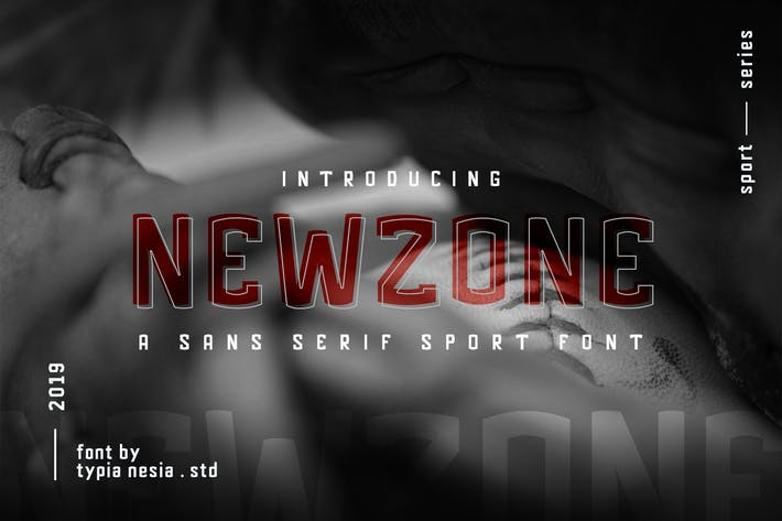 Thumbnail for Newzone - Sport Sans Font