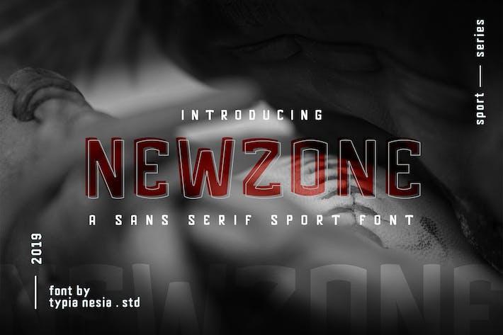 Thumbnail for Newzone - Sport Sans Font