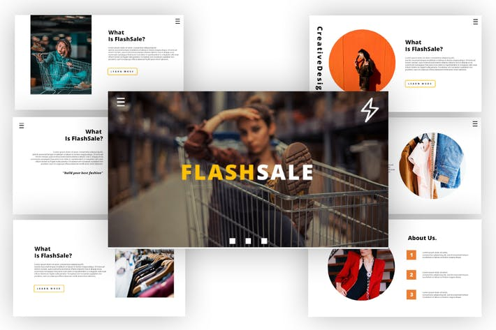 Thumbnail for Flash Sale - Business PowerPoint Template