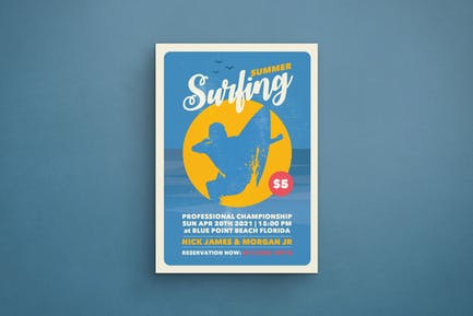 Surfen Flyer