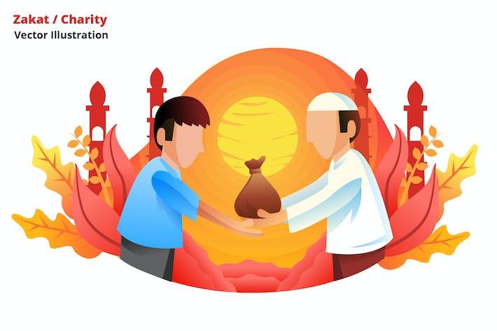 zakat charity - Vector Illustration