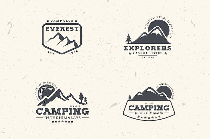 Thumbnail for 4 Mountain Badges & Logos