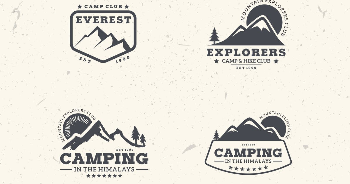 Download 4 Mountain Badges & Logos by graphix_shiv