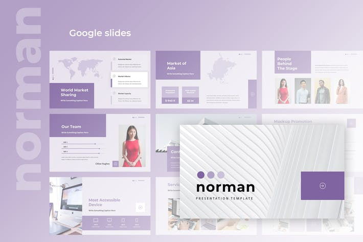 Thumbnail for Norman - Business Google Slides Presentation