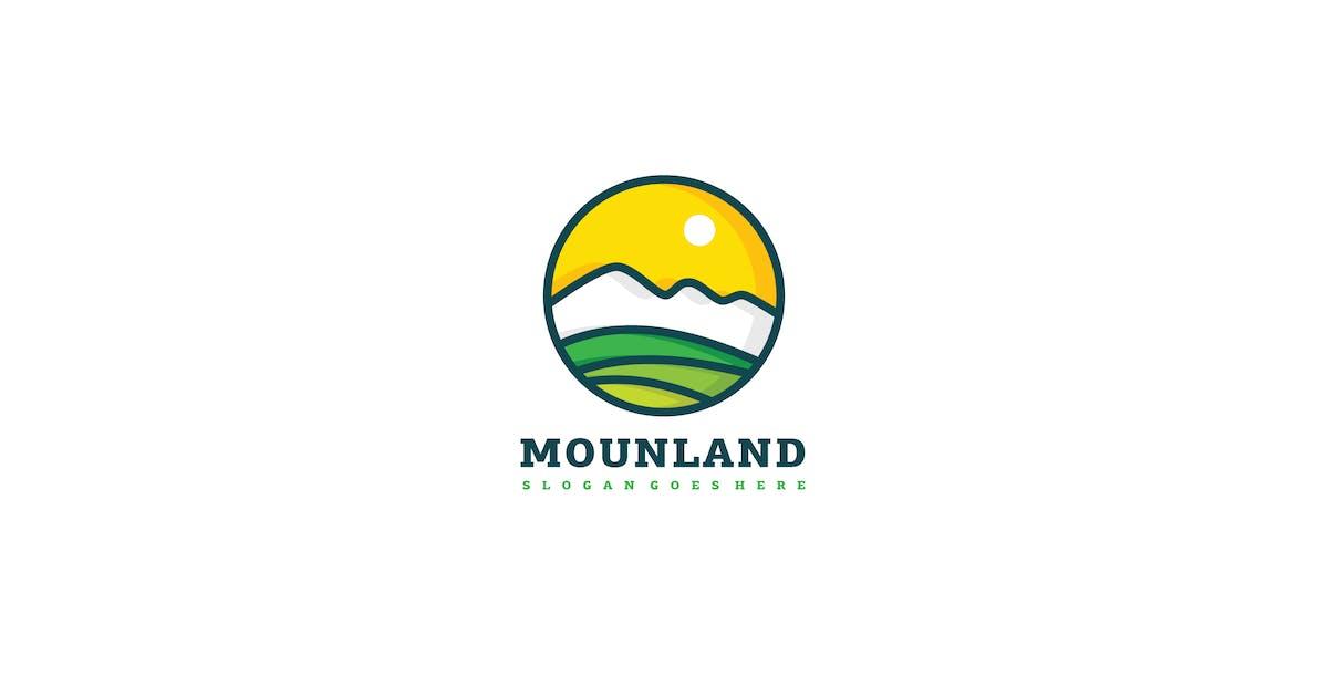 Download Mountain Land Logo Template by 3ab2ou