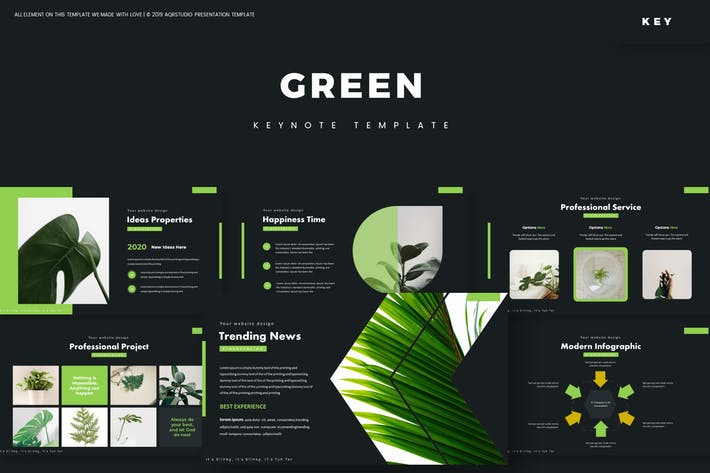Thumbnail for Зеленый - Шаблон Keynote