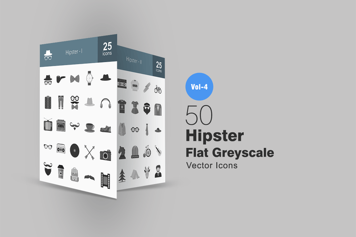 Thumbnail for 50 Hipster Greyscale Icons