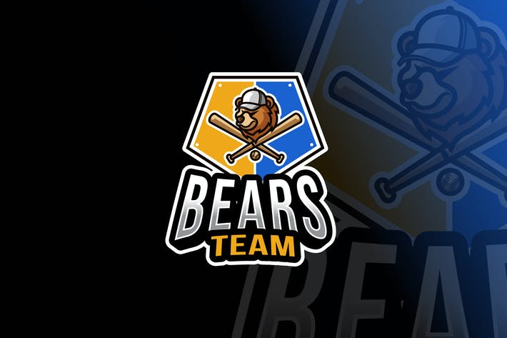Thumbnail for Bears Baseball Logo Template