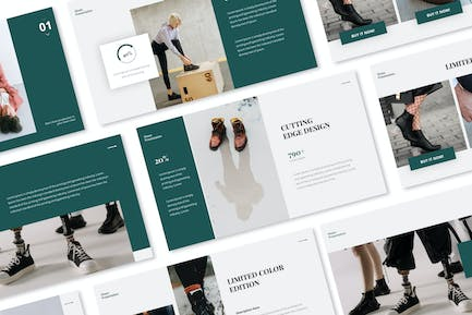 Snick-roe Shoes Powerpoint Presentation Template