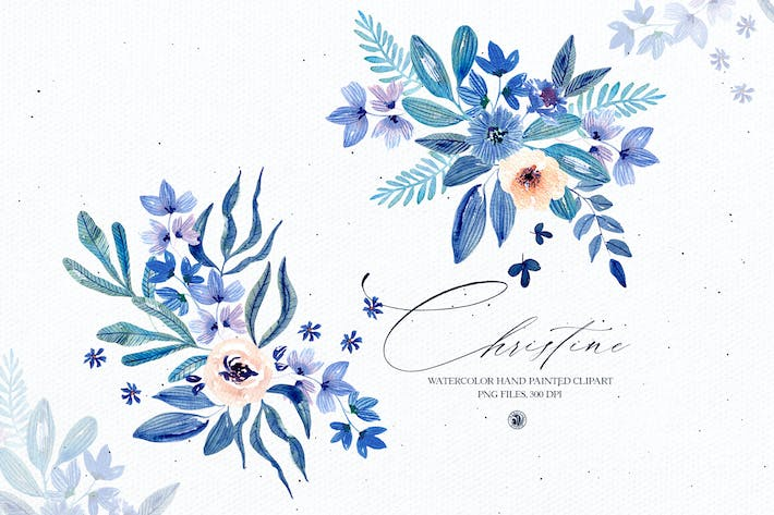 Thumbnail for Watercolor floral set - Christine