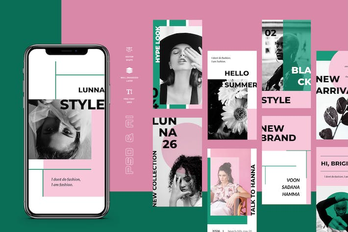 Thumbnail for Lunna - Instagram Stories Kit