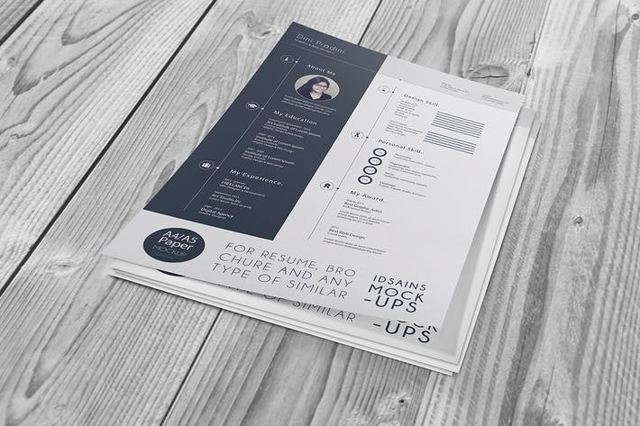 cv resume mock up by idsains on envato elements