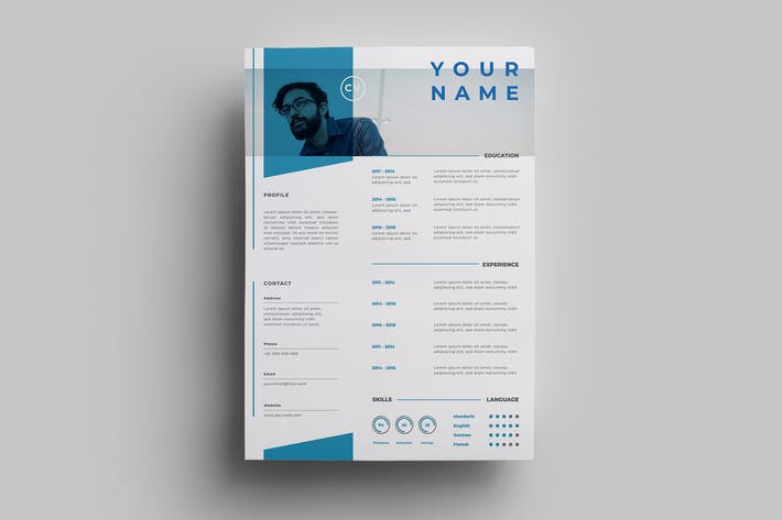 Thumbnail for Resume Design Templates.17