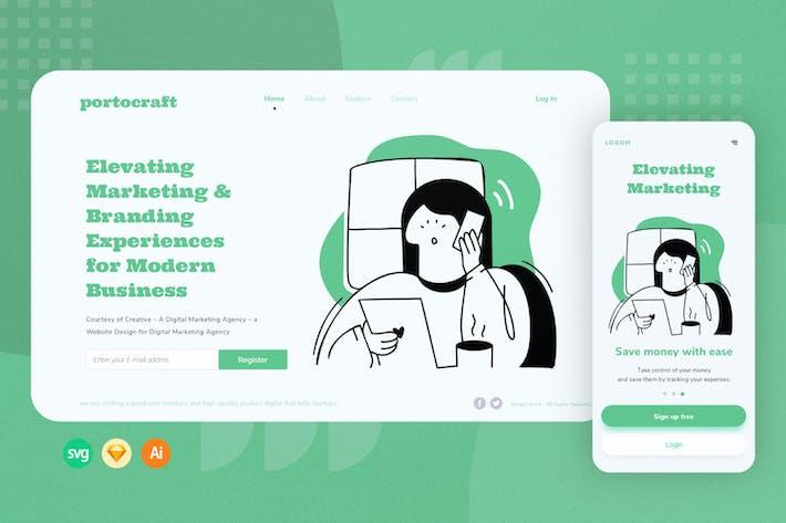 Thumbnail for Help Desk Web / Mobile Illustration