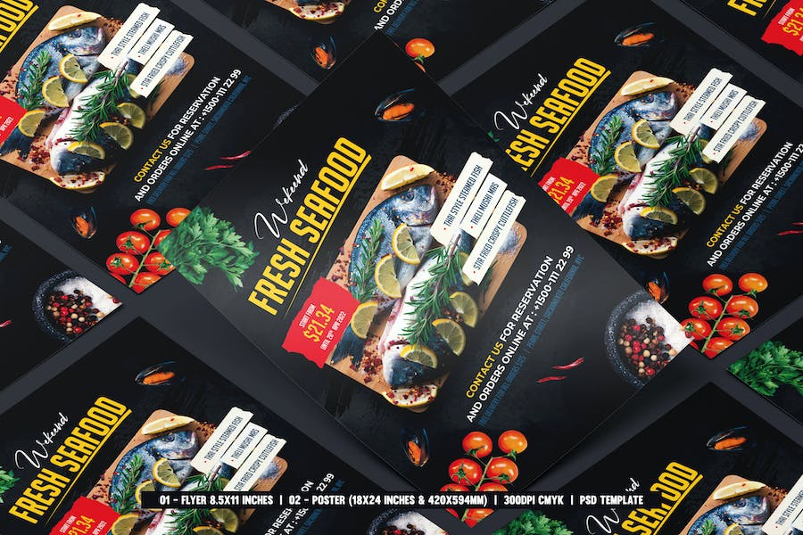 Seafood Flyer & Poster