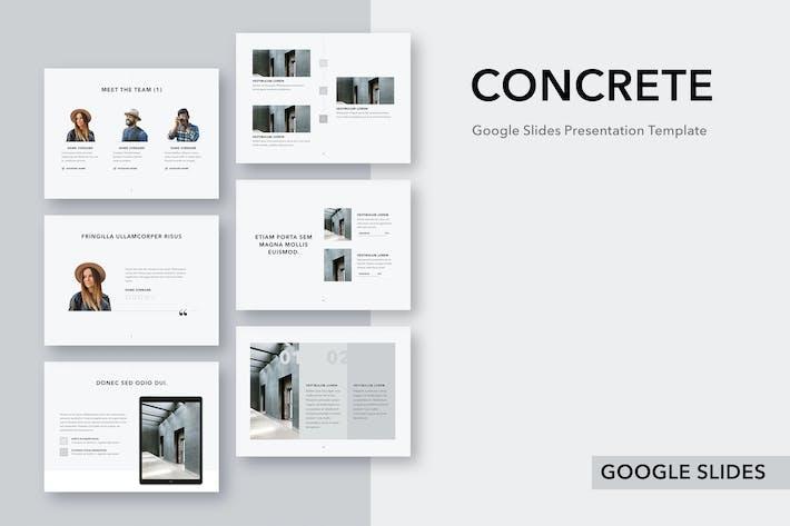 Thumbnail for Concrete Google Slides Template