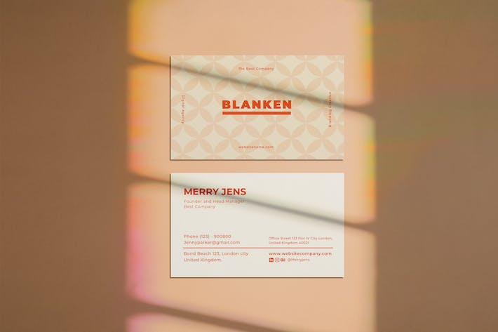 Cover Image For Company Business Card