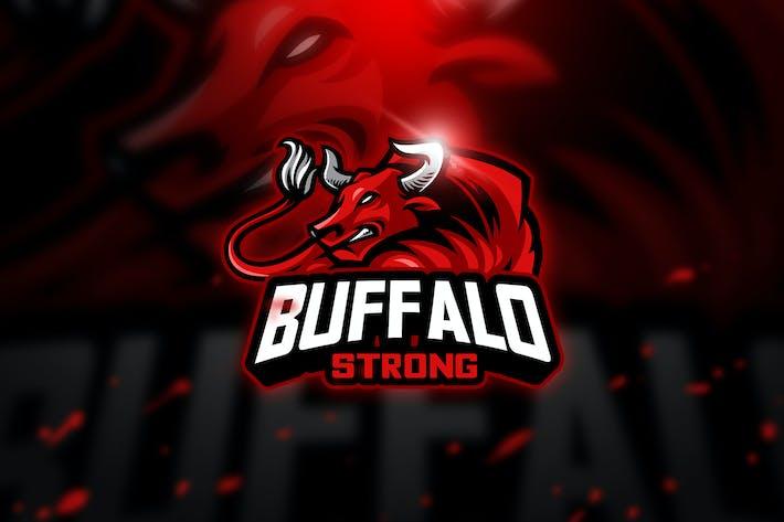 Thumbnail for Buffalo - Mascot & Esport Logo