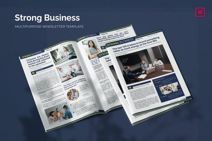 Thumbnail for Strong Business - Newsletter Template