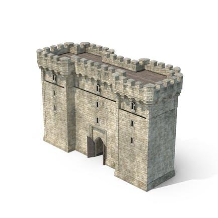 Gatehouse with Open Door