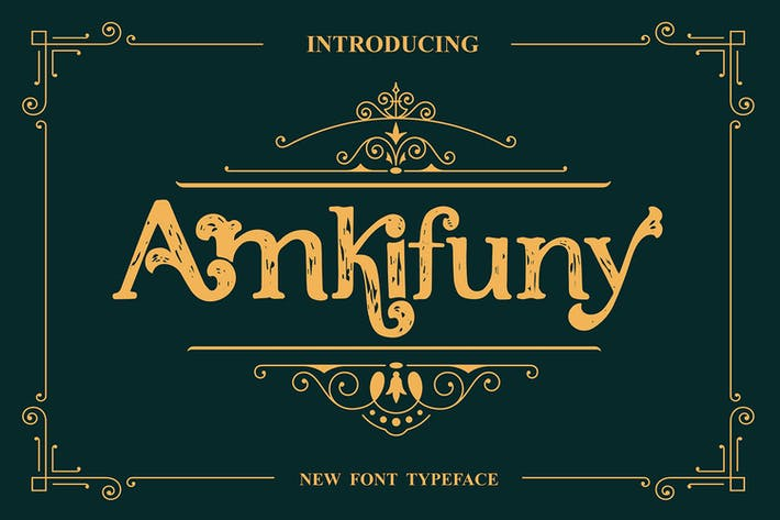 Thumbnail for Amkifuny New Brush Serif Display Font Typeface