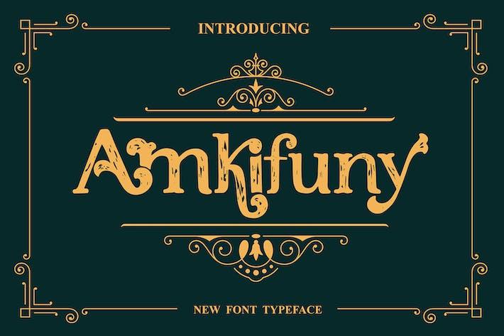 Amkifuny New Brush Con serifa Display Tipo de letra