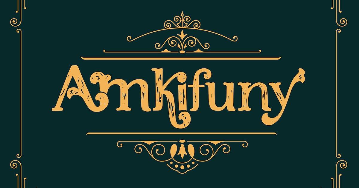 Download Amkifuny New Brush Serif Display Font Typeface by maulanacreative