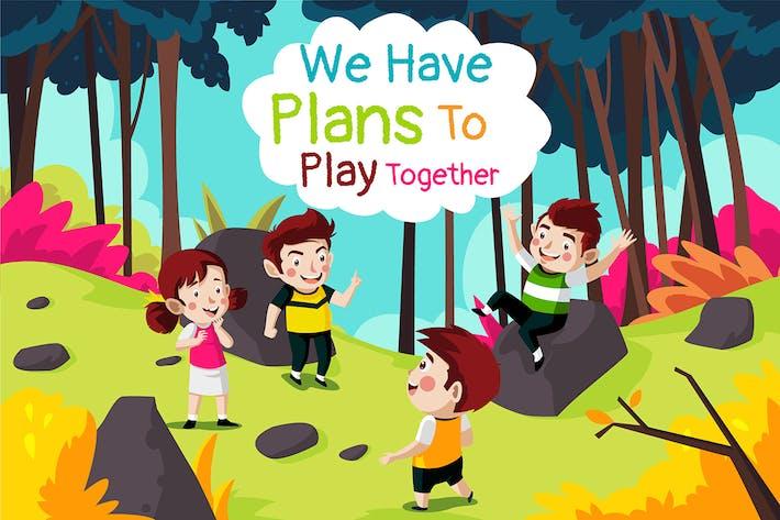 Thumbnail for zusammen spielen - Illustration