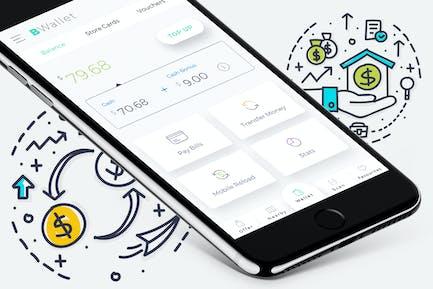 B Wallet Dashboard 9 Mobile Ui