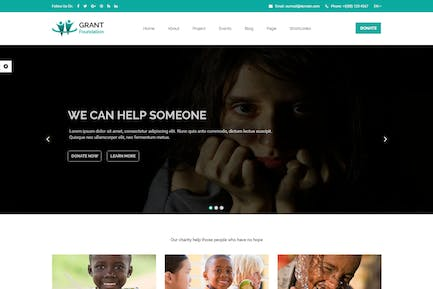 Grant Foundation – Nonprofit Charity Template