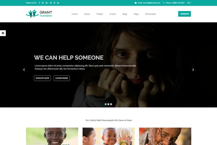Thumbnail for Grant Foundation – Nonprofit Charity Template