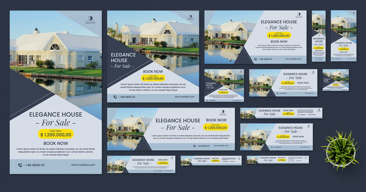 Download Real Estate Google Ads Banners by Gioraphics