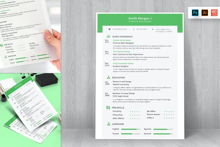 Cover Image For Resume CV Template-20