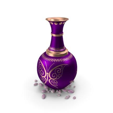 Pot Copper With Stones