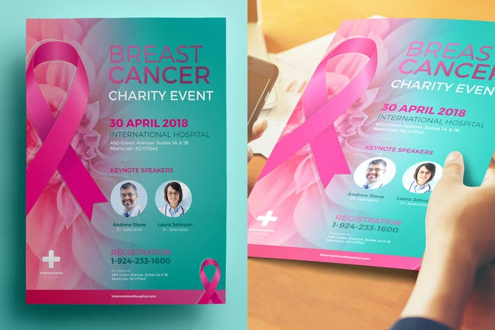 Thumbnail for Breast Cancer Charity Flyer