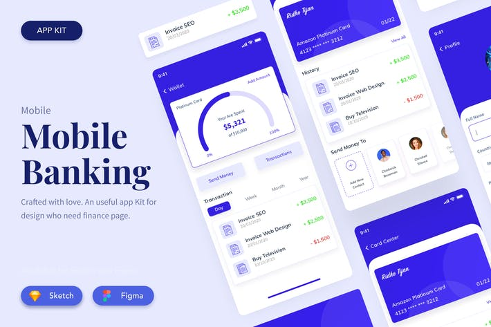 Design der Benutzeroberfläche der Banking-App