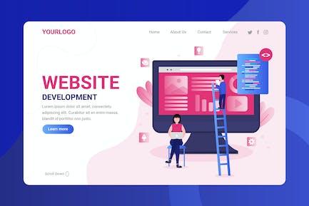 Développement de site Web - Page de destination