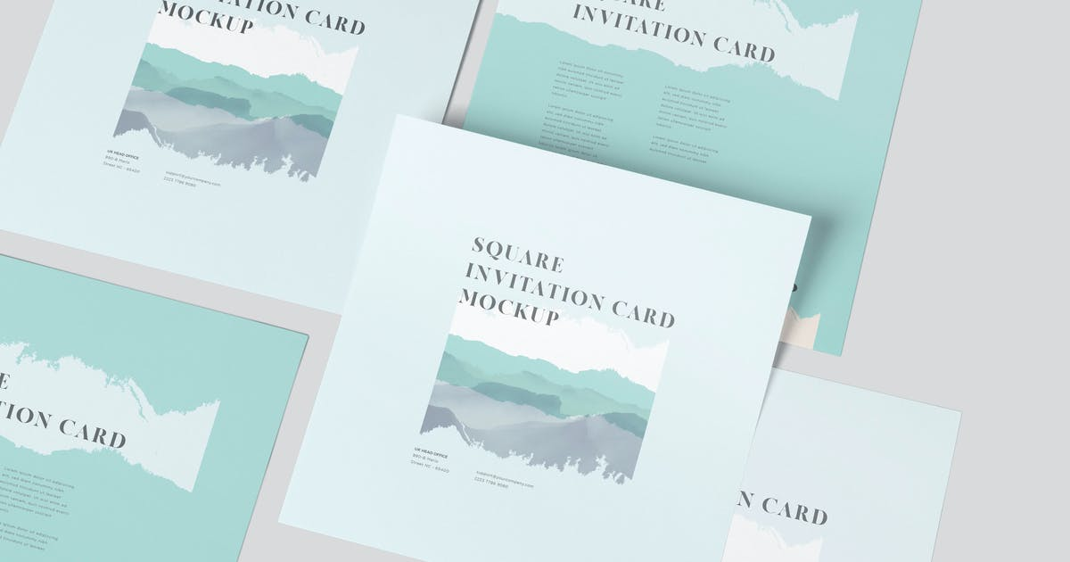 Download One Page Square Invitation Card Mockups by GfxFoundry