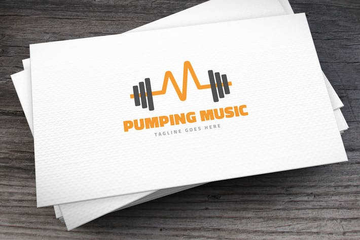 Thumbnail for Pumping Music Logo Template