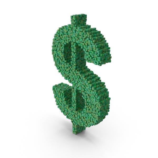 Знак доллара Voxel
