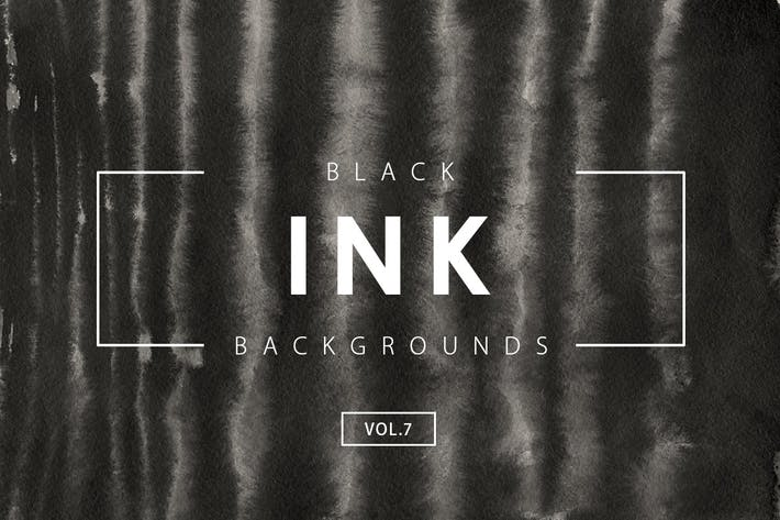 Cover Image For Black Ink Backgrounds Vol.7