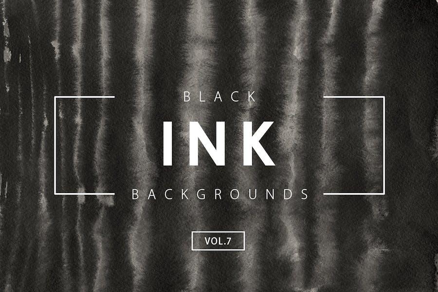 Black Ink Backgrounds Vol.7
